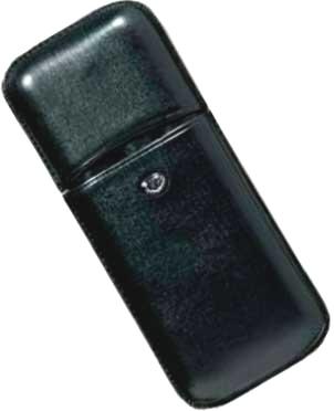 Aurora AU-P106/11 Кожаный футляр для трех ручек, Torino, цвет: черный