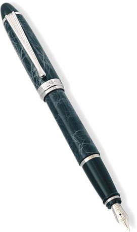 Aurora AU-B13/CGM Перьевая ручка Ipsilon Lacquer, Marbled Grey CT (Перо M)
