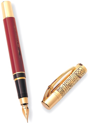 Подробнее о Перьевая ручка Aurora Leonardo Da Vinci Limited Edition, Gold Plated & Red Lacquer GT (Перо F)