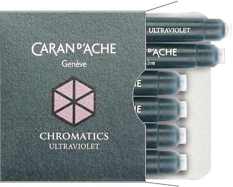 Caran d`Ache 8021.099 Фиолетовые картриджи с чернилами для перьевых ручек Chromatics, Ultra Violet