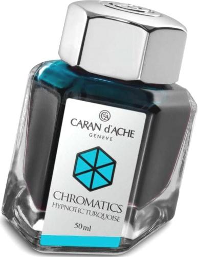 Caran d`Ache 8011.191 Флакон с бирюзовыми чернилами Chromatics, Hypnotic Turquoise