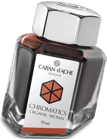 Caran d`Ache 8011.049 Флакон с коричневыми чернилами Chromatics, Organic Brown