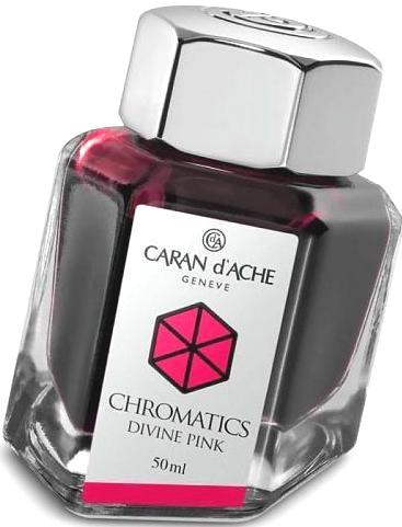 Caran d`Ache 8011.080 Флакон с розовыми чернилами Chromatics, Divine Pink