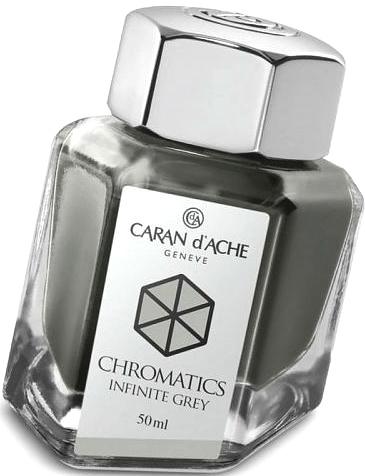 Caran d`Ache 8011.005 Флакон с серыми чернилами Chromatics, Infinite Grey
