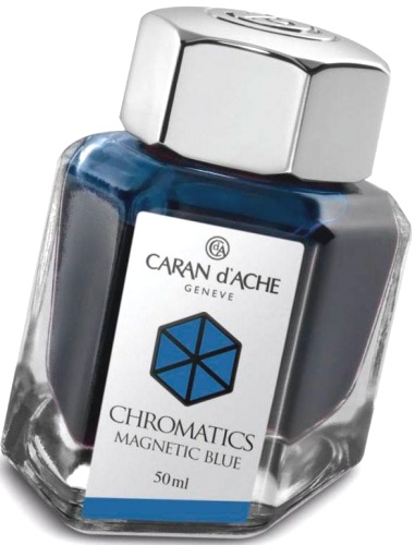 Caran d`Ache 8011.149 Флакон с синими чернилами Chromatics, Magnetic Blue