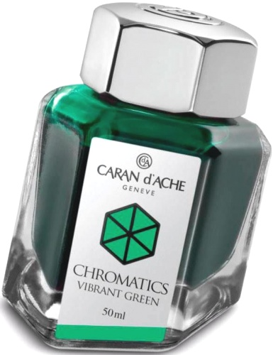 Caran d`Ache 8011.210 Флакон с ярко-зелеными чернилами Chromatics, Vibrant Green