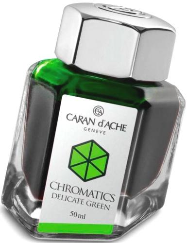 Caran d`Ache 8011.221 Флакон с зелеными чернилами Chromatics, Delicate Green