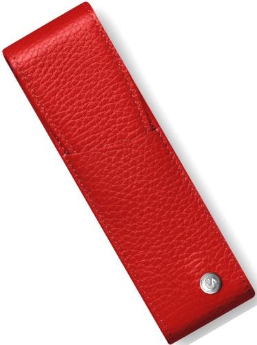 Caran d`Ache 6202.770 Футляр кожаный для 2 ручек Leman, красный