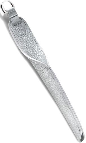 Caran d`Ache 5701.101 Футляр кожаный для одной ручки Mademoiselle, серебристый