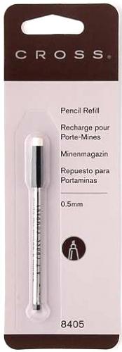 Cross 8405 Грифели для механических карандашей 0.5 мм в кассете, 1 ластик