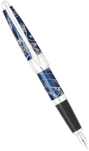 Подробнее о Перьевая ручка Cross Apogee Special Edition Year of the Snake 2013, Prosperity Blue Lacquer CT (Перо F)