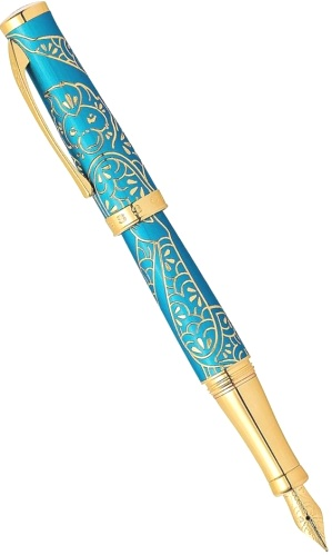 Подробнее о Ручка перьевая Cross Sauvage Year of the Monkey, Tibetan Teal Lacquer GT (Перо M)