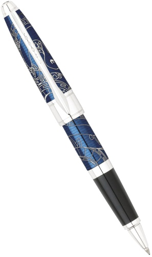 Подробнее о Ручка-роллер Cross Apogee Special Edition Year of the Snake 2013, Prosperity Blue Lacquer CT