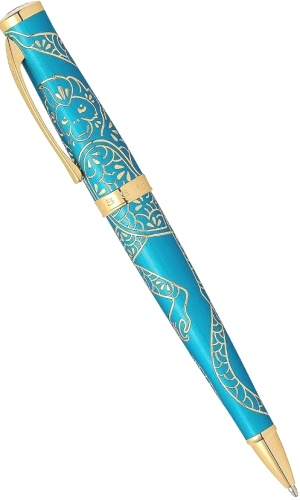 Подробнее о Шариковая ручка Cross Sauvage Year of the Monkey, Tibetan Teal Lacquer GT