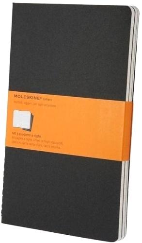 Moleskine QP316 Блокнот А5 Cahier (3 шт.), Черный