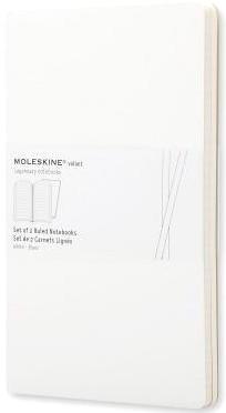Moleskine QP721WH Блокнот А5 Volant (2 шт.), Белый