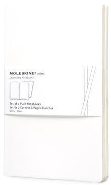 Moleskine QP723WH Блокнот А5 Volant (2 шт.), Белый