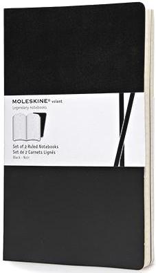 Moleskine QP721BK Блокнот А5 Volant (2 шт.), Черный