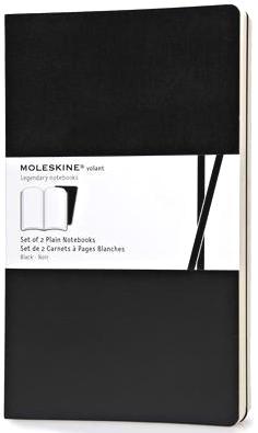 Moleskine QP723BK Блокнот А5 Volant (2 шт.), Черный