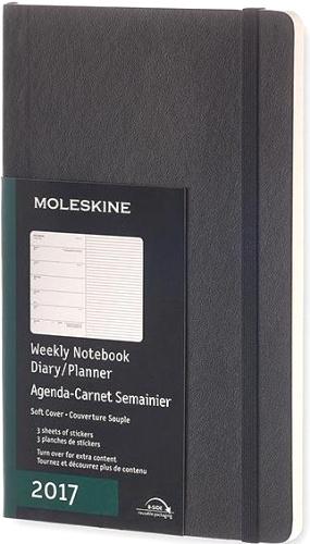 Moleskine DSB12WN3 Еженедельник датированный А5 Classic, Черный