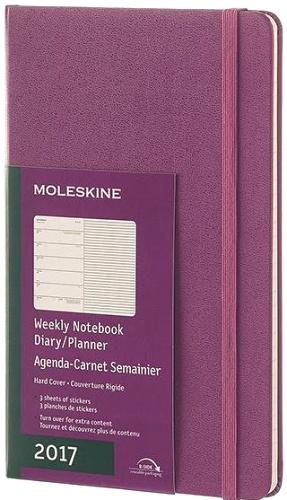 Moleskine DHH1012WN3 Еженедельник датированный А5 Classic, Фиолетовый