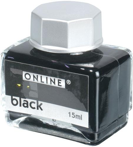 Online OL 17237/20 Чернила для перьевых ручек Ink bottels, Black