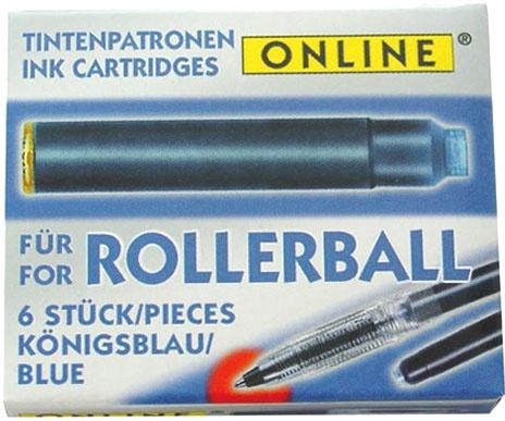 Online OL 17000/48 Картриджи с чернилами для ручек роллеров , синие