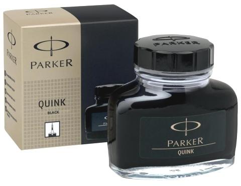 Parker S0037460 Флакон с черными чернилами для перьевых ручек Quink, Z13