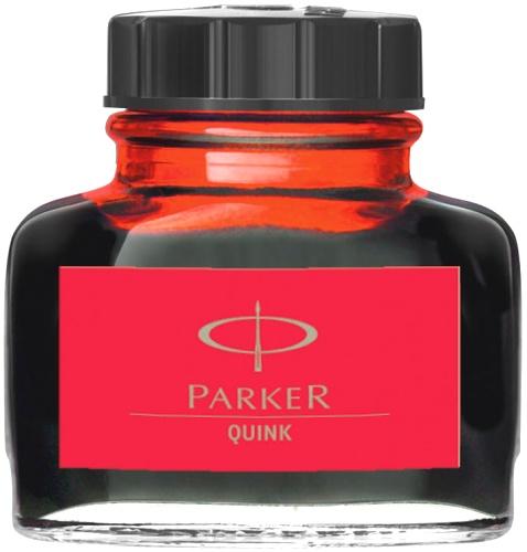 Parker S0116030 Флакон с красными чернилами для перьевых ручек Quink, Z13