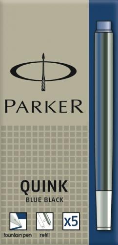 Parker S0116250 Картриджи с чернилами Quink для перьевой ручки Z11, стандартный, сине-черные (Blue-Black)