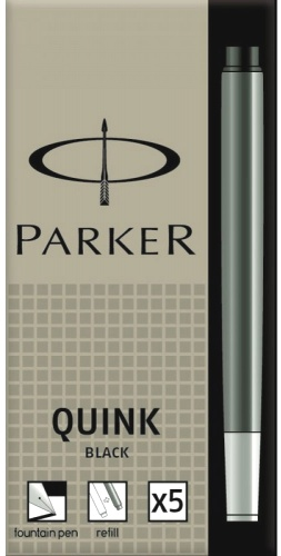 Parker S0116200 Картриджи стандартные с черными чернилами для перьевых ручек , Z11