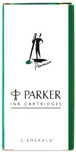 Parker 700208/07 Картриджи стандартные с зелеными чернилами для перьевых ручек , Z11