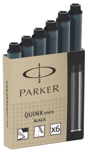 Parker S0767220 Картриджи Z17 с черными чернилами для перьевой ручки MINI
