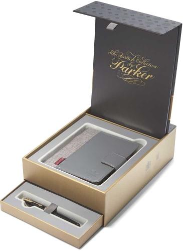 Parker 1978402 Набор: перьевая ручка + органайзер Sonnet F530, Lacquer Black GT (Перо F)