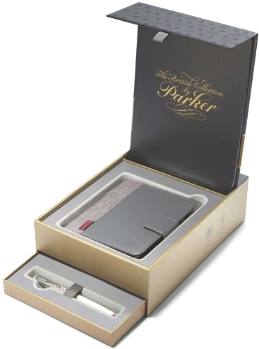 Parker 1978401 Набор: перьевая ручка + органайзер Sonnet F540 Feminine Collection, Metal and Pearl GT (Перо F)