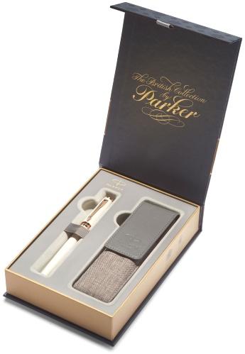 Parker 1978391 Набор: ручка 5й пишущий узел + чехол 5th Ingenuity Slim F501, Pearl Lacquer PGT