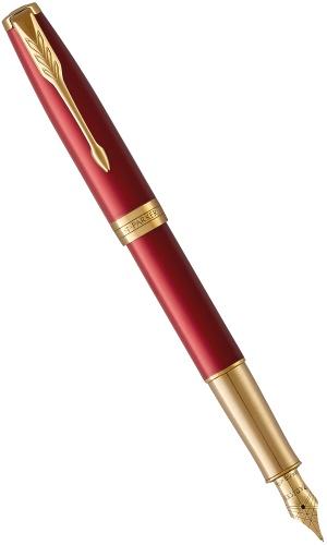 Parker 1931478 Перьевая ручка Sonnet Core F539, Lacquer Intense Red GT (Перо F)