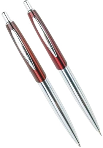 Подробнее о Набор: ручка шариковая + карандаш Pen and Pen Pierre Cardin, Lacquer Red / Silver CT