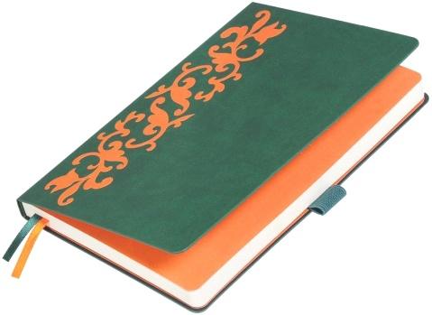 Portobello Trend LXX1601263-040 Ежедневник недатированный А5 Russia, Зеленый / Оранжевый