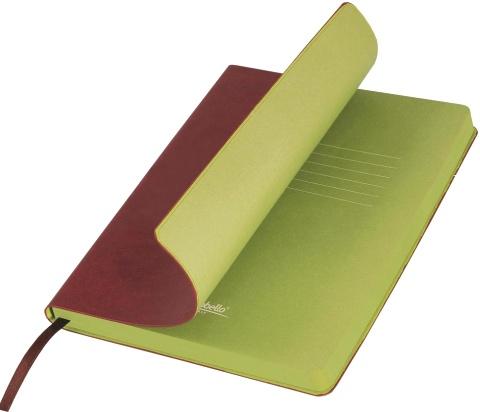 Portobello Trend LXX1501256-020 Ежедневник недатированный Nazarenogabrielli River side, 145х210 мм, коричневый / салатовый
