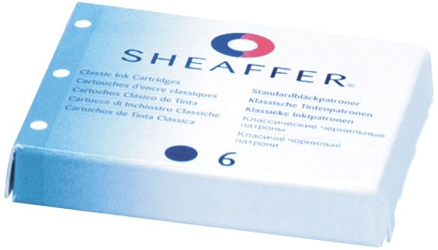 Sheaffer SA96223 Картриджи с синими чернилами 6 штук для перьевой ручки