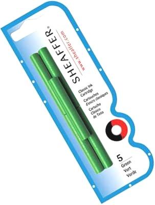 Sheaffer SH 96350 Картриджи с зелеными чернилами 5 штук для перьевой ручки