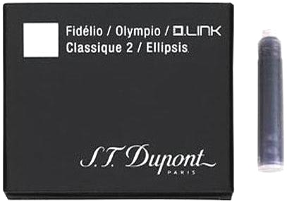 S.T.Dupont 40110 Картридж с черными чернилами для перьевой ручки