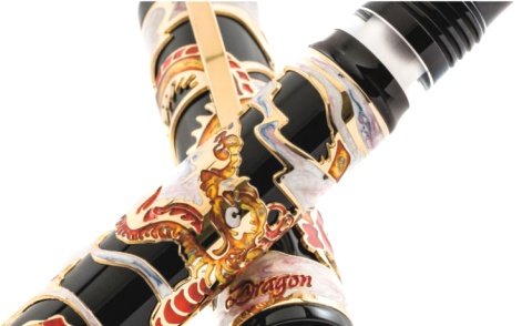 Подробнее о Перьевая ручка Visconti Dragon 2012 Limited Edition, Black and Red GT (Перо M)