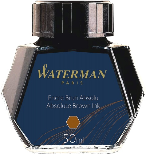 Waterman S0110830 Флакон с коричневыми чернилами для перьевых ручек
