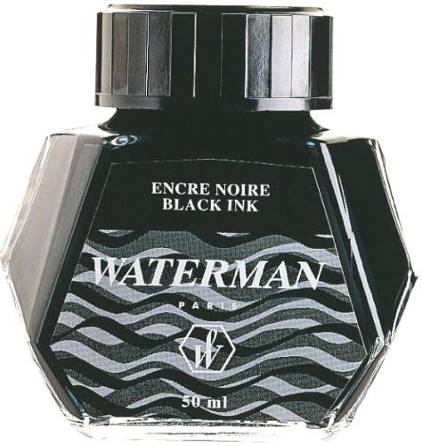 Waterman S0110710 Флакон с черными чернилами для перьевой ручки