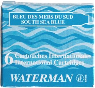 Waterman S0111010 Картриджи MINI Южное море для перьевой ручки , South See Blue