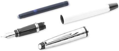 ��������� � �������� ����� Waterman Expert 3 Deluxe, White CT (���� M)