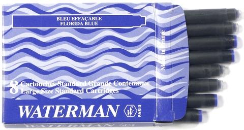 Waterman S0110860 Стандартные картриджи с синими чернилами для перьевой ручки