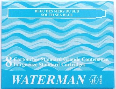 Waterman S0110920 Стандартные картриджи Южное море для перьевой ручки , South See Blue
